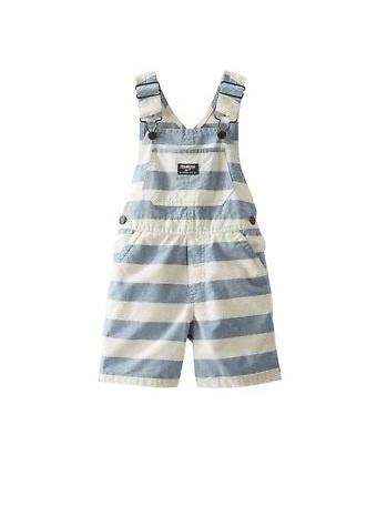 Stripped blue and white  oshkosh overall