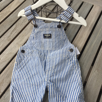 Stripped blue and white  oshkosh overall