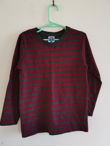 Stripy Maroon T-Shirt