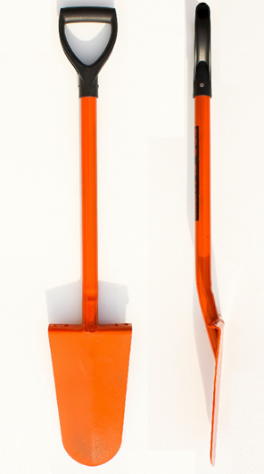 Strong, all steel construction forestry planting spade