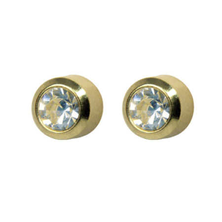 STUDEX CRYSTAL GOLD PLATED APRIL BIRTHSTONE
