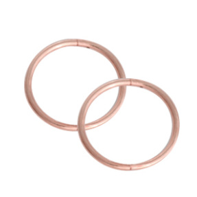 STUDEX SLEEPERS 8MM PLAIN ROSE GOLD PLATED