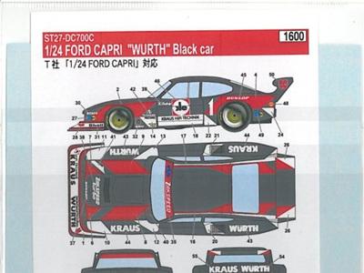 "Studio27 1/24 Capri ""Wurth"" Black Car"
