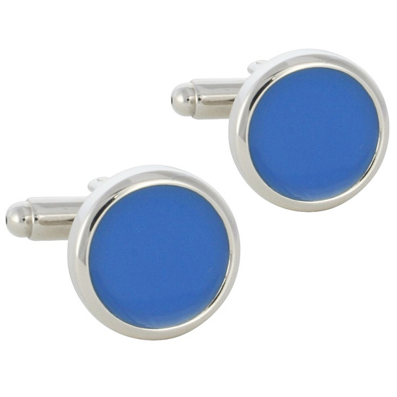 Stylish Blue Cufflinks