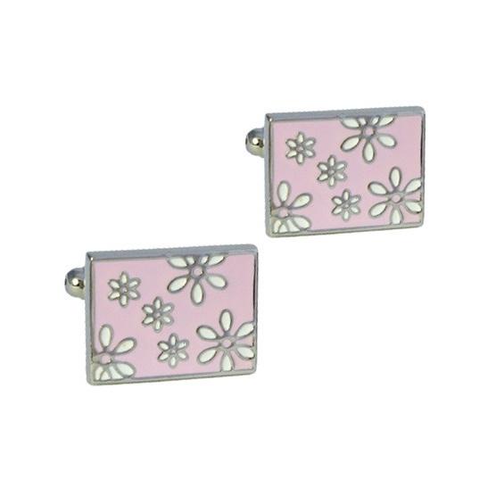 Stylish Pink Coloured Cufflinks
