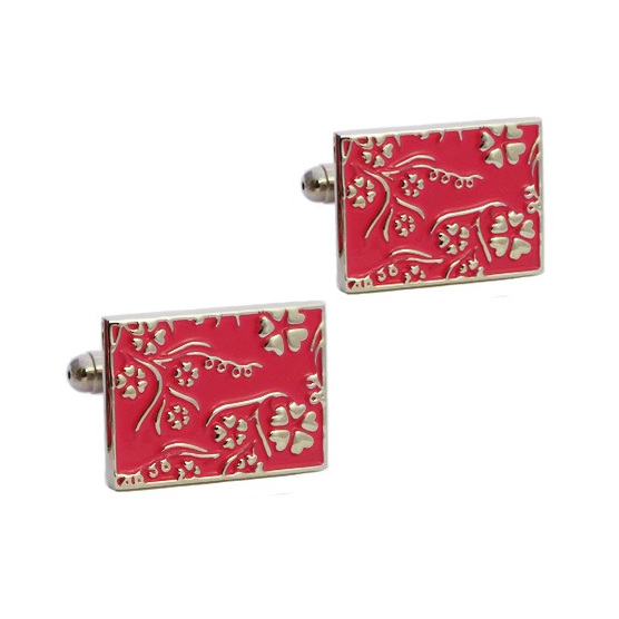 Stylish Pink Coloured Cufflinks