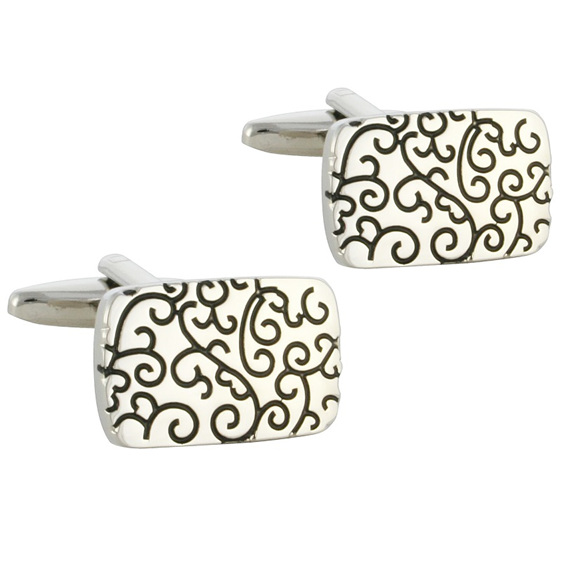 Stylish Silver Cufflinks