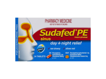 SUDAFED PE Sinus Day/Night Rel. 24