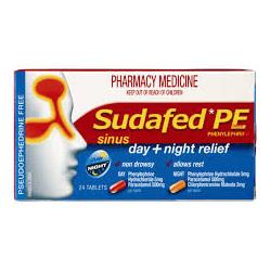 SUDAFED PE Sinus Day/Night Rel. 24