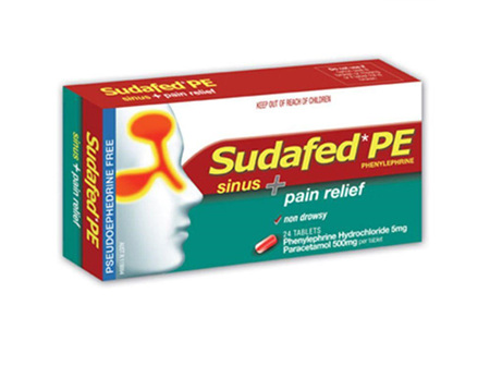 SUDAFED PE SINUS  PAIN 20 tablets