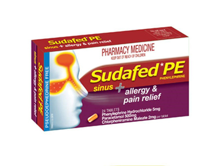 Sudafed Sudafed Pe Sinus  Allergy  Pain Relief