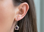 Suffrage 125 amethyst earrings by The Village Goldsmith & Te Puna Foundation