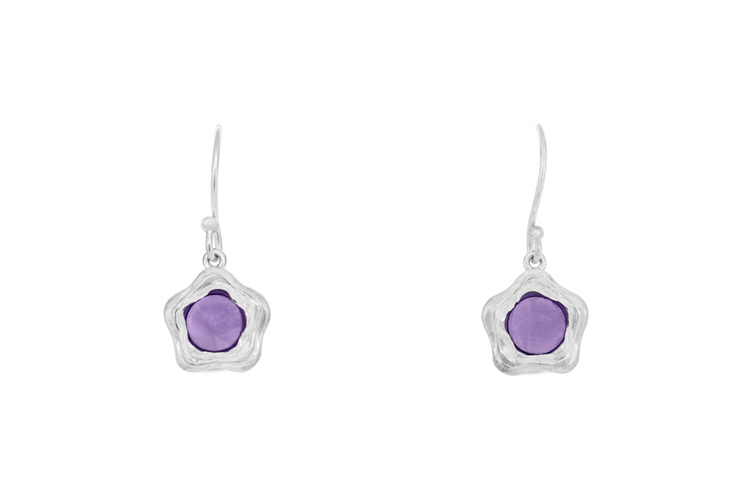 Suffrage 125 Sterling Silver and Amethyst Earrings