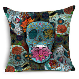 SUGAR SKULL CUSHION COVER 1