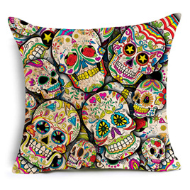 SUGAR SKULL CUSHION COVER 3
