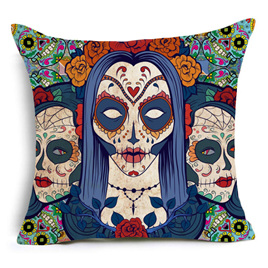 SUGAR SKULL CUSHION COVER 4