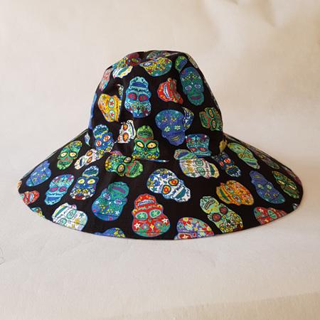 Sugar Skull Sombrero Hat - Adult size large