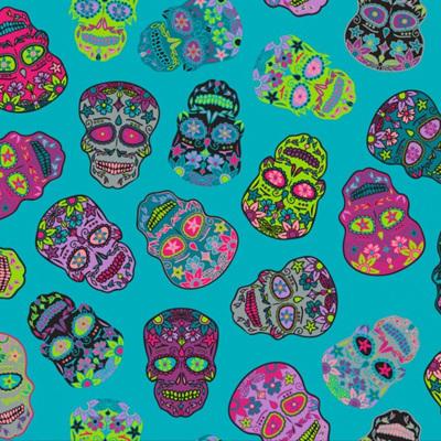 Sugar Skulls - Teal