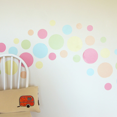 Summer Sorbet dots wall decal