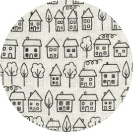 """Summer Town"", 100% Cotton"