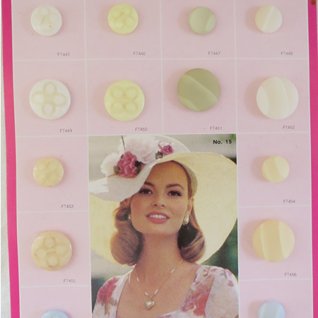 Summery pastel buttons
