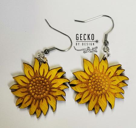 Sunflower Yellow Earrings