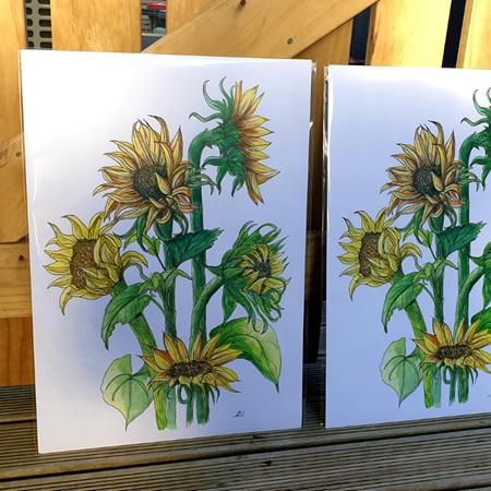 Sunflowers A4 Print