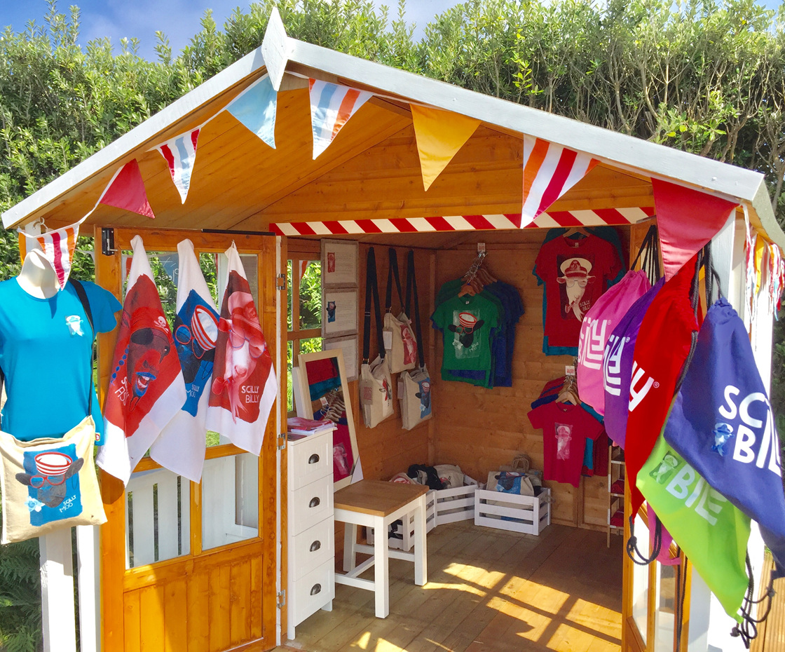 Our little pop-up shop on St Martin's - open for the summer season