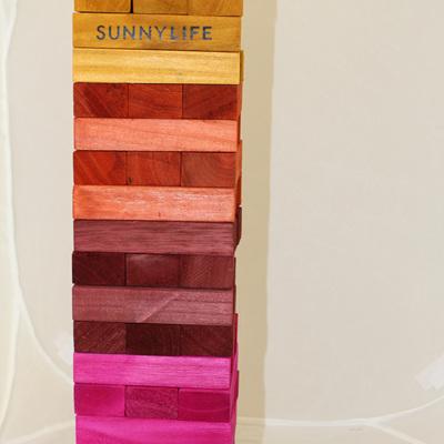 SunnyLife Giant Jumbling Towers Rainbow Jenga Game