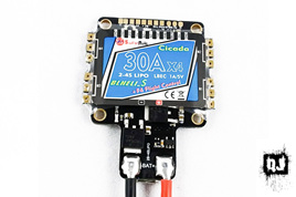 Sunrise Cicada F4 + 4-in-1 30A ESC flight controller with 5V BEC
