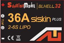Sunrise Siskin BL32-GD32 36A Esc