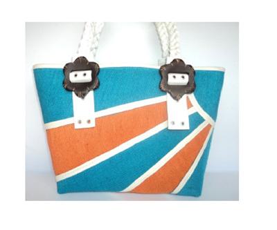 Sunset Handbag - blue and orange - FREE Shipping
