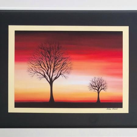 Sunset Trees Print in Medium Frame