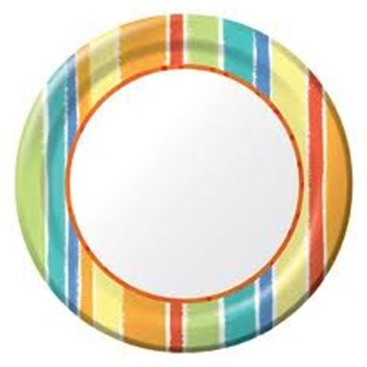 Sunshine Stripes Dinner Plates