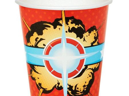 Super Hero paper cups