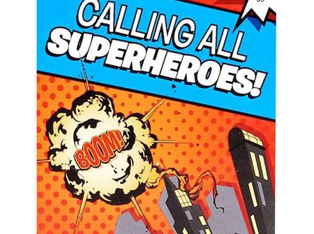 Super Heros party invites
