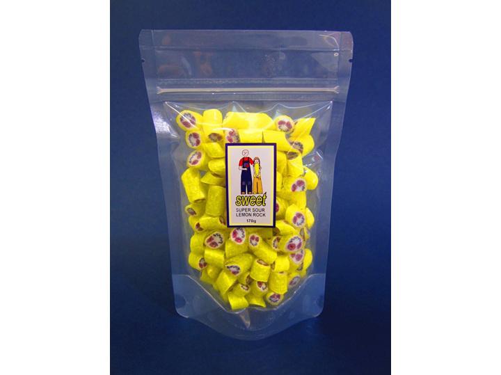 super sour lemon rock bag
