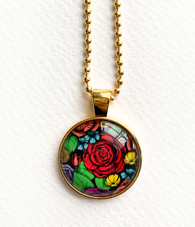 Superbloom Pendant Necklace - gold