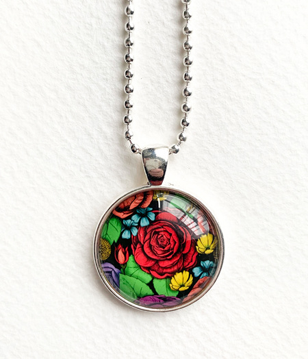 Superbloom pendant necklace - silver - 1  left!