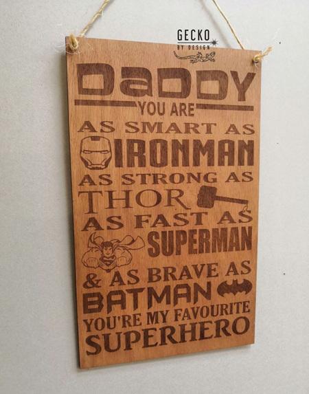 Superhero Dad Sign