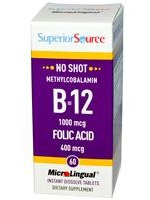 Superior Source Methylcobalamin B12 with Folic Acid