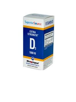 Superior Source Vitamin D3 1000 IU, 100 tabs