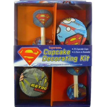 Superman cupcake kit