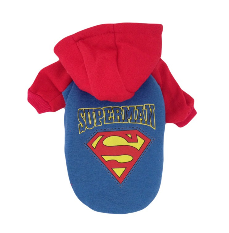 superman dog costume hoodie