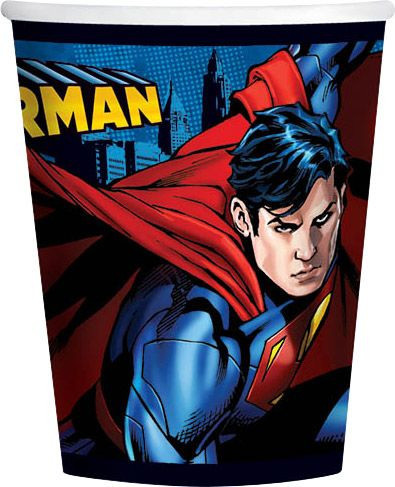 Superman Party Cups x 8