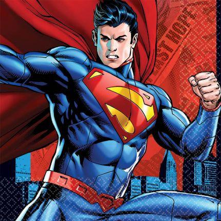 Superman Party Napkins - NEW x 16