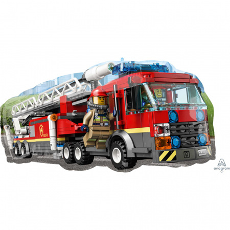 Supershape foil Lego City fire Truck balloon