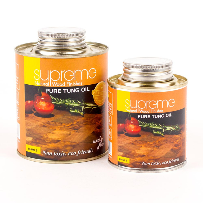 supreme pure tung oil - 250 and 500ml - new zealand made