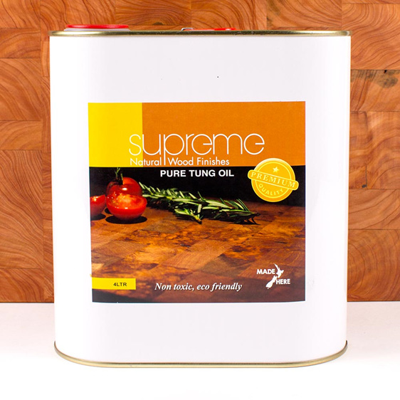 supreme pure tung oil - 4L - made in new zealand