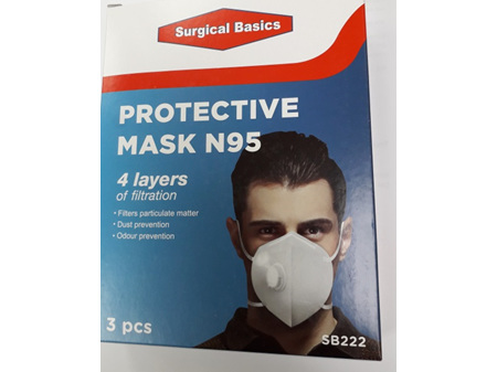 Surgical Basics Protective Mask N95 3pack